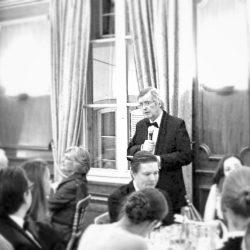 Le juge Paul Lemmens était en charge du toast d'honneur de la première édition du gala PLDH.